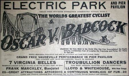 Electric Park - 1908 AD FROM JEFF