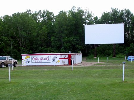 Hi-Way Drive-In Theatre - SNACK BAR AND SCREEN - PHOTO FROM WATER WINTER WONDERLAND