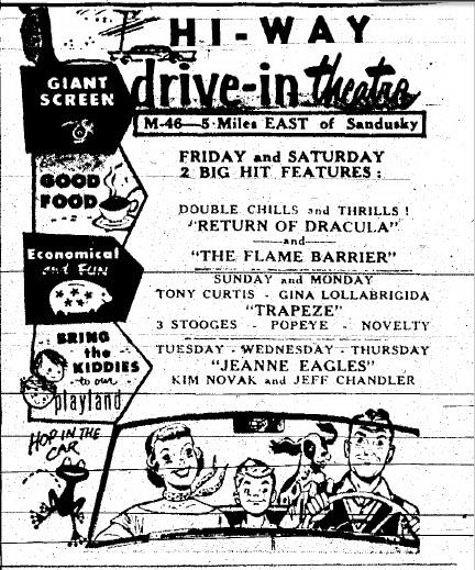 Hi-Way Drive-In Theatre - SUMMER OF 58 AD