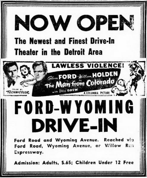 1950-05-19 ad Ford-Wyoming Drive In Dearborn, Dearborn