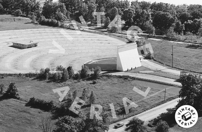 old aerial Silver Drive-In Theatre, Fenton