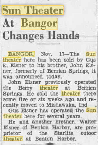 Sun Theater - NOV 19 1949 CHANGING HANDS