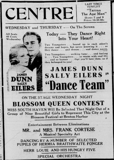Centre Theater - APR 19 1932 AD